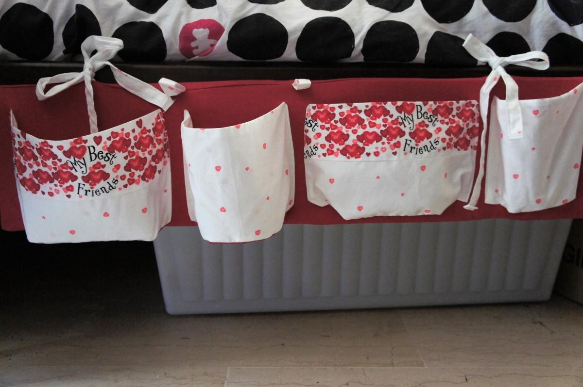 Coudre des rangements suspendus pour votre lit